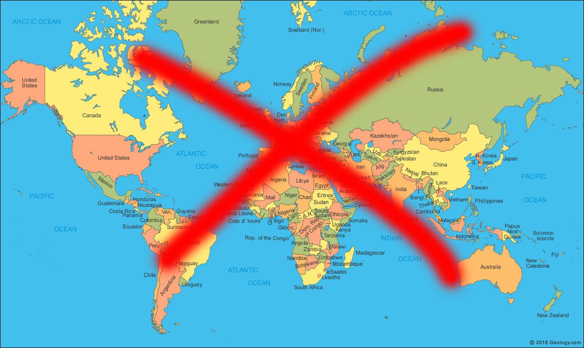Esqueca O Mapa Mundi Com O Qual Voce Esta Familiarizado