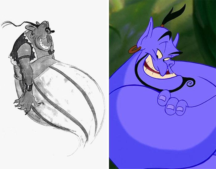 25 Personagens Da Disney E Seus Rascunhos Artísticos