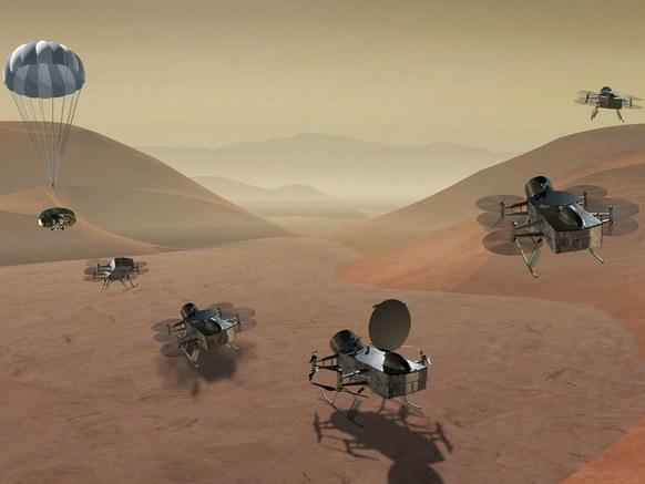 NASA vai enviar drone para procurar vida na lua Titã