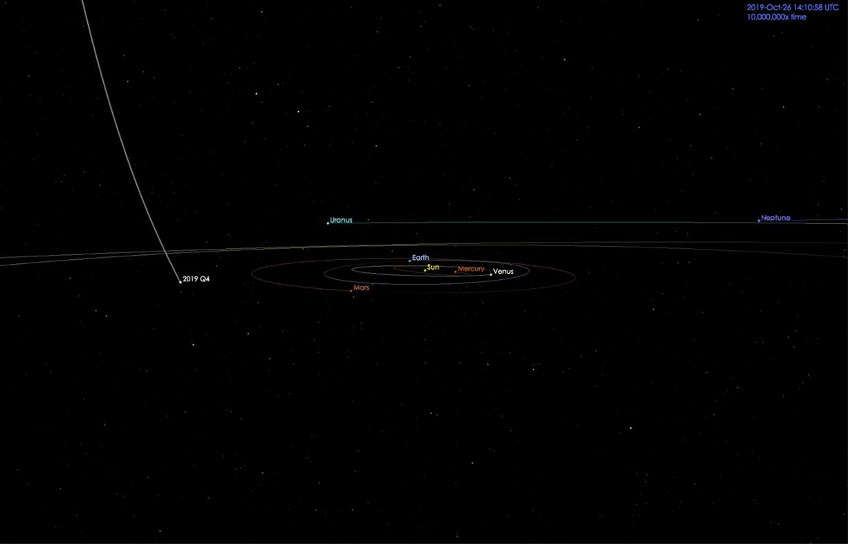 Novo cometa descoberto é, possivelmente, um visitante interestelar