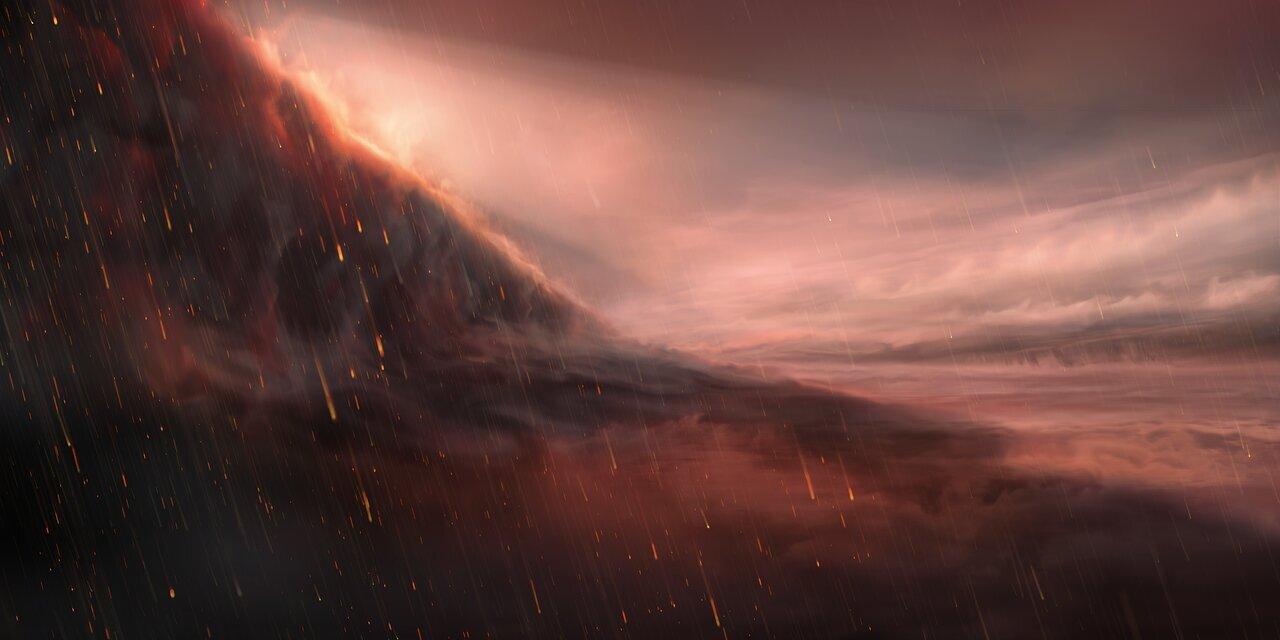 Very Large Telescope observa planeta onde chove ferro
